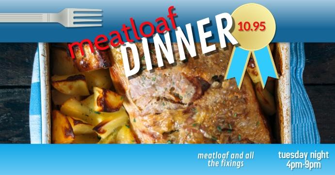 meatloaf dinner special event facebook cover template