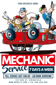 Mechanic Service Poster