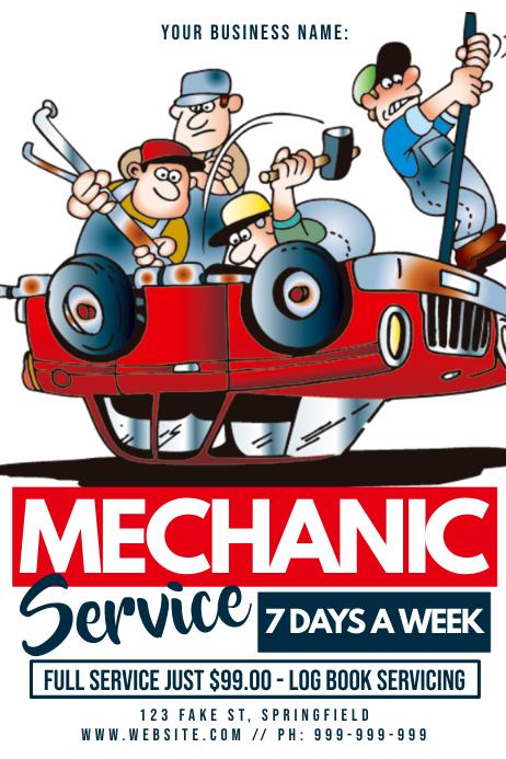 Mechanic Service Poster
