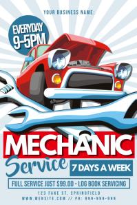 Mechanic Service Poster template