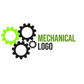 mechanical logo with gear wheels