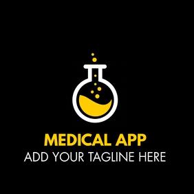 medical app logo template design