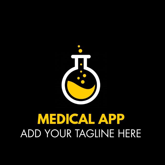 medical app logo template design Logotipo