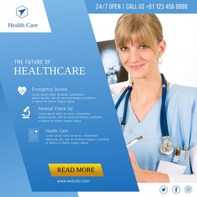Medical Care, Healthcare Service Post template