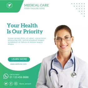 Medical Care Banner Instagram Post template