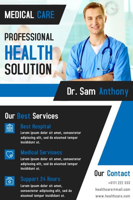 Medical Care Flyer & Brochure Design Template