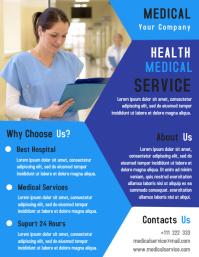 Medical Care Flyer template Design