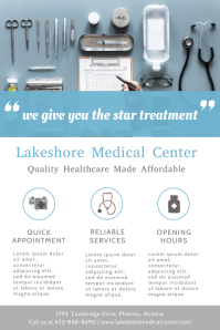Medical Center Advertising Flyer Template