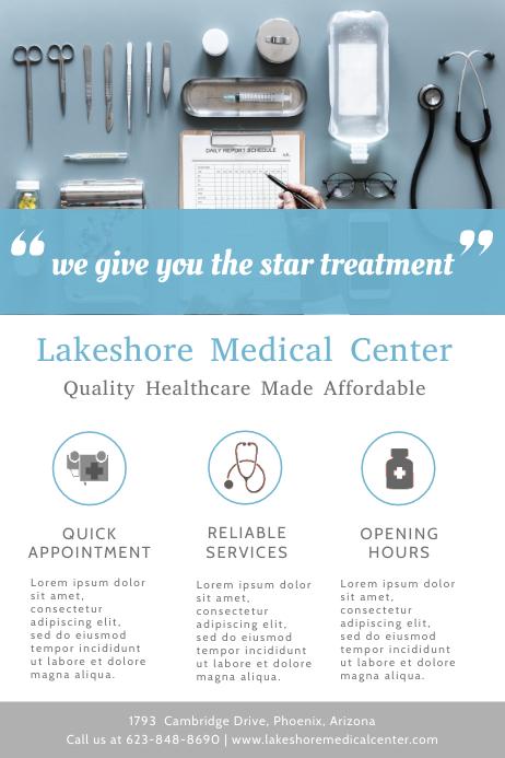 Medical Center Advertising Flyer Template Плакат