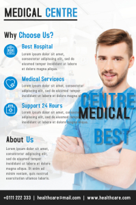 Medical Centre Flyer and Brochure Design Template Poster