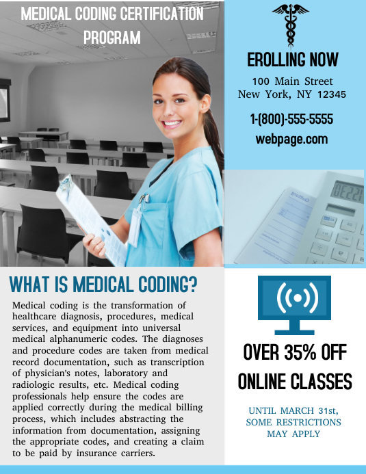 coding medical template certification certificate templates poster postermywall similar