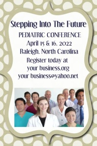 Medical conference small business event invitation flyer