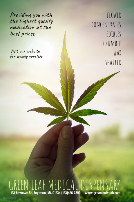 Medical dispensary Marijuana Poster