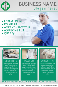 customizable design templates for medical flyer postermywall