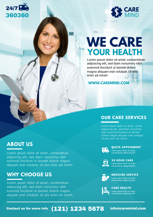 Medical Flyer Template A4