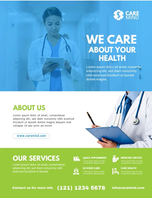Medical Flyer Template Pamflet (VSA Brief)
