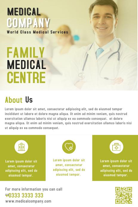 Medical Health Business Flyer & Brochure Design Template