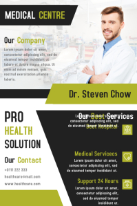 Medical Health Centre Flyer and Brochure Design Template Poster