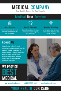 Medical Health Flyer and Brochure Design Template Плакат
