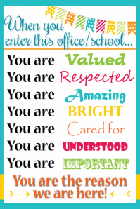 Medical office school classroom business sign poster flyer