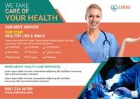 Medical Post card design Ikhadi leposi template