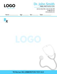 Medical Prescription Pad Design Рекламная листовка (US Letter) template