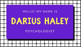 Medical Professsional Name Tag template