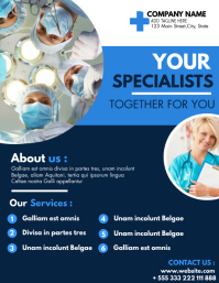 medical services flyer advertisement template