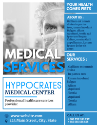 medical services flyer design