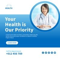 Medical Social Media Template Design Instagram-opslag