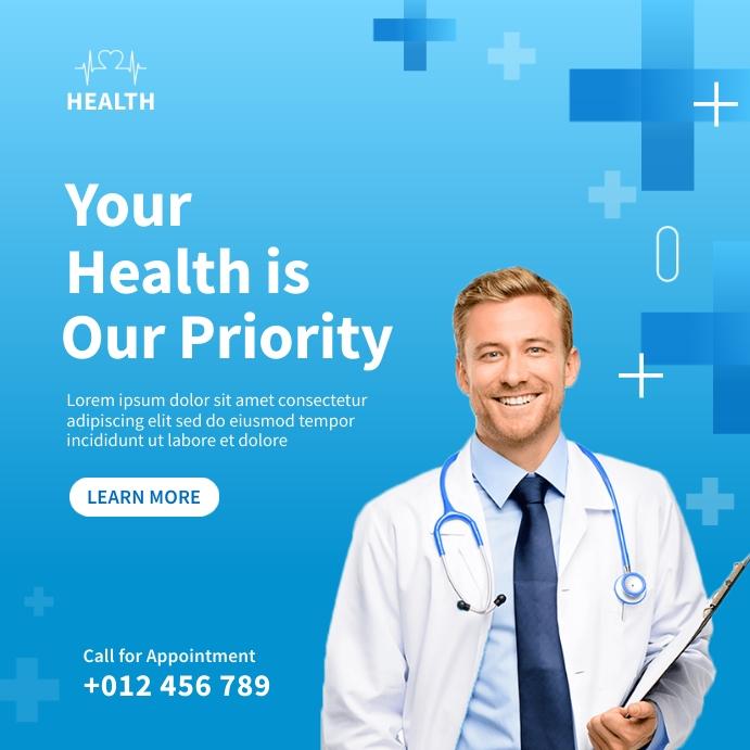 Medical Social Media Template Design Instagram-bericht