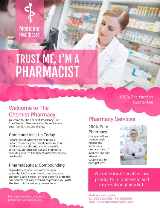 Medicine Healthcare Flyer Pamflet (Letter AS) template