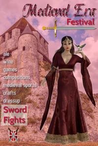 Medieval Event, tiempos medievales, pri Poster template