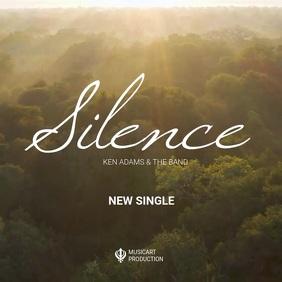 meditating calming music advertising Album Cover template
