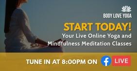 Meditation and Yoga Facebook Live Template