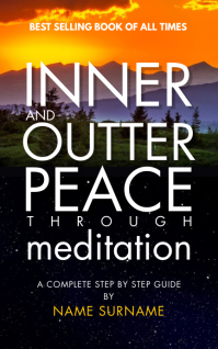 Meditation Book Cover 2021 Template Kindle 封面