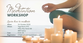 Meditation Event Header Banner Spiritual Ad Template Postermywall