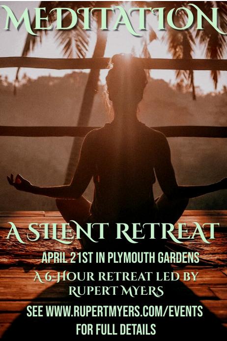 Meditation Event Poster Template