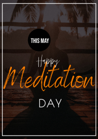 meditation flyer A3 template