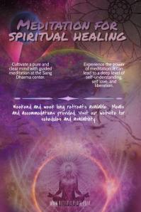 meditation holistic retreat flyer