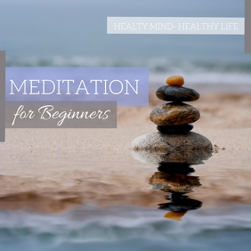 Meditation Instagram Post template
