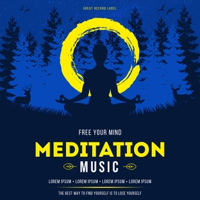 MEDITATION MUSIC COVER ปกอัลบั้ม template