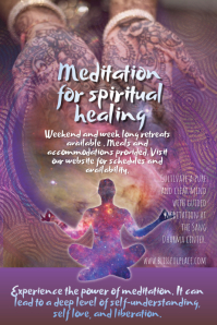 Meditation Retreat or Class Poster