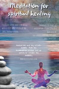 Meditation Retreat or Class Poster