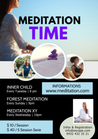 Meditation Workshop session classes yoga ad