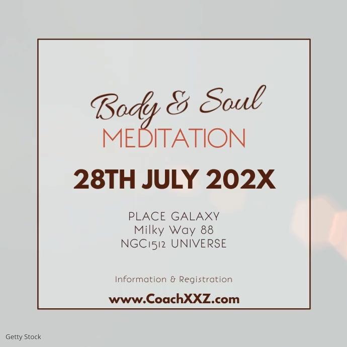 Meditation Workshop Yoga Spiritual Heaven Ad