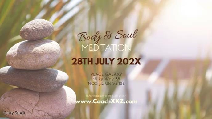 Meditation Workshop Yoga Spiritual Soul Ad Digital na Display (16:9) template