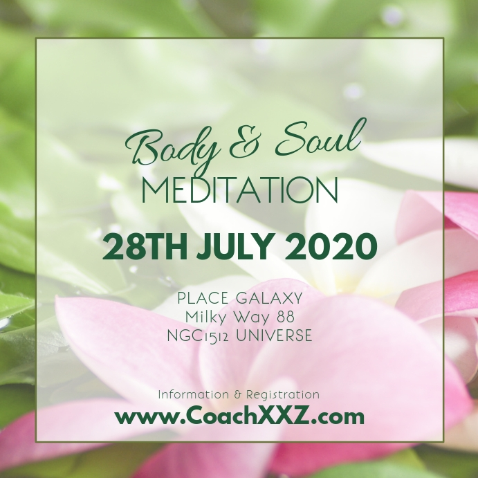 Meditation Workshop Yoga Spirituality Soul Ad Instagram-Beitrag template