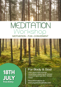 Meditation Workshop Yoga Spirituality Soul Ad