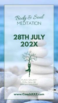 Meditation Workshop Yoga Spirituality Soul Ad Instagram Story template